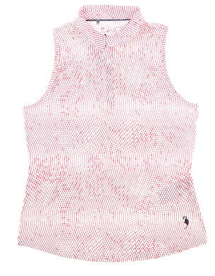 New W/ Logo Womens Under Armour Sleeveless Golf Polo Large L Multi MSRP $72