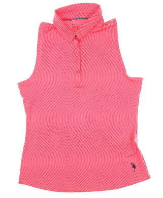 New W/ Logo Womens Under Armour Sleeveless Golf Polo Large L Pink MSRP $72