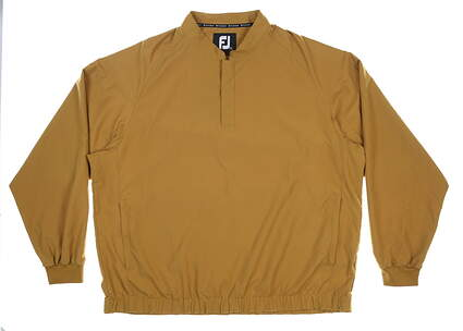 New Mens Footjoy Supersoft Wind Shirt X-Large XL Taupe MSRP $125 35097