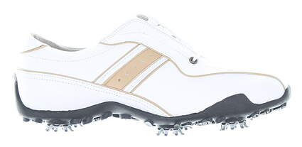 New Womens Golf Shoe Footjoy LoPro Collection Medium 7.5 White MSRP $110 97153