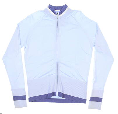 New Womens Nike Full Zip Mock Neck Large L Blue/Purple MSRP $100 288483