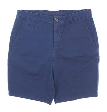 New Mens Johnnie-O Twill Woven Shorts 32 Navy Blue MSRP $79 JMSH1400