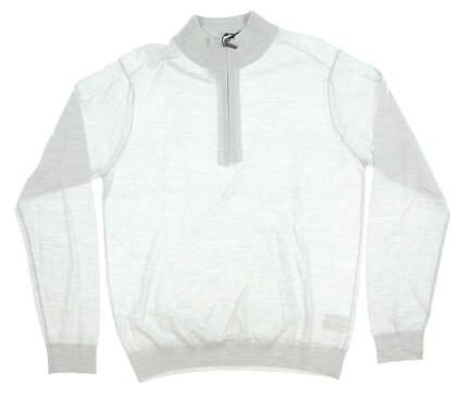 New Mens Greg Norman 1/4 Zip Sweater Medium M Gray MSRP $126 G7F9S150