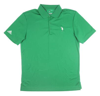 New W/ Logo Mens Adidas Golf Polo Small S Green MSRP $55 CF9351