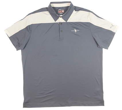 New W/ Logo Mens Puma Golf Polo X-Large XL Gray MSRP $65 569071