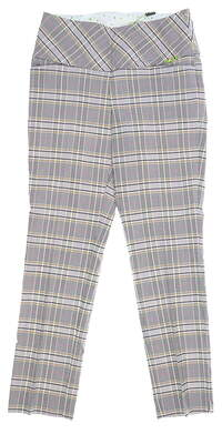 New Womens Swing Control Pants 10 Plaid Multi MSRP $100
