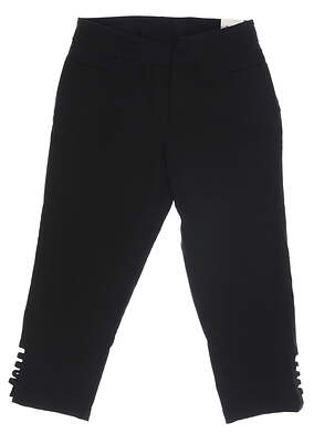 New Womens BETTE & COURT Cropped Pants 12 Black MSRP $70
