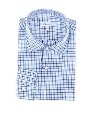 New Mens Peter Millar Button Up X-Large XL Blue MSRP $145