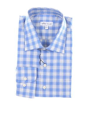 New Mens Peter Millar Button Up X-Large XL Blue/Gray MSRP $145