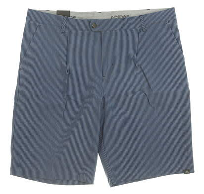 New Mens Adidas Ultimate 365 Gingham Shorts 38 Blue MSRP $85 DT3560