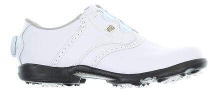 New Womens Golf Shoe Footjoy DryJoys BOA Medium 7.5 White MSRP $180 99017
