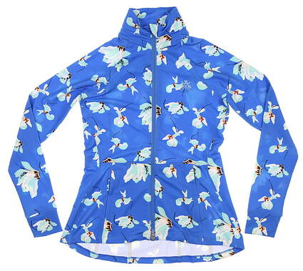 New W/ Logo Womens Peter Millar Golf Jacket X-Small XS Blue MSRP $125 LS20K16A