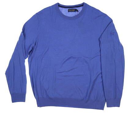 New W/ Logo Mens Ralph Lauren Golf Sweater X-Large XL Blue MSRP $189
