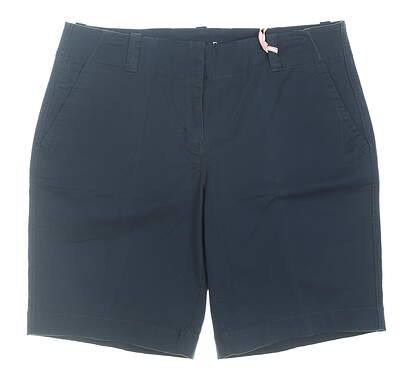 New Womens Vineyard Vines Golf Shorts 8 Navy Blue MSRP $68 2H0579-406