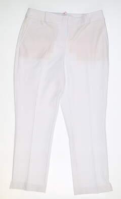 New Womens Fairway & Greene Maggie Capri Pants 4 White MSRP $115 J32183