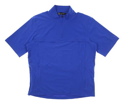 New Mens Under Armour Short Sleeve Wind Jacket Large L Navy Blue MSRP $80
