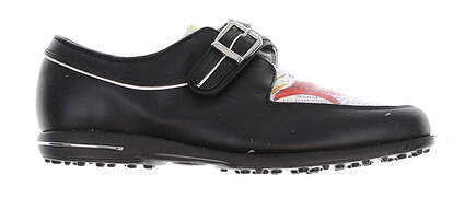 New Womens Golf Shoe Footjoy Tailored Collection Medium 7.5 Black MSRP $150 91651