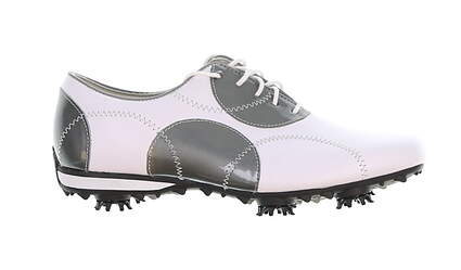 New Womens Golf Shoe Footjoy LoPro Collection Medium 7 White/Silver MSRP $60 97075