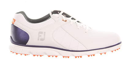 New Mens Golf Shoe Footjoy Pro SL Medium 9 White/Blue/Orange MSRP $160 53533