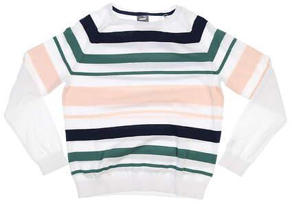 New Womens Puma Ribbon Sweater Small S Blue Spruce MSRP $80 599268