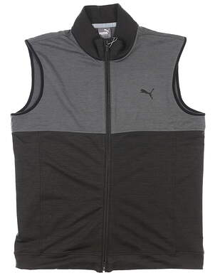 New Mens Puma Warm Up Vest Medium M Gray/Black MSRP $120 597127