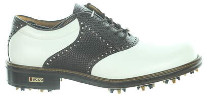 New Mens Golf Shoe Ecco World Class 41 (7-7.5) White/Brown MSRP $500 03929456468