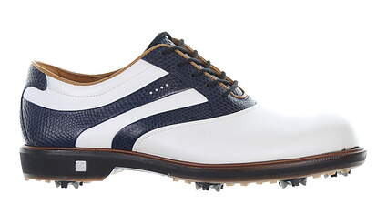 New Womens Golf Shoe Ecco Classic Hybrid 38 White/Navy MSRP $220 3869351293
