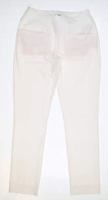 New Womens Puma PWRSHAPE Pull On Pants Medium M White MSRP $80 574779 01