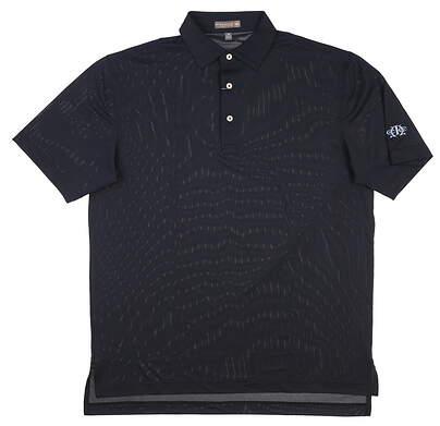 New W/ Logo Mens Peter Millar Golf Polo Medium M Black MSRP $98 MS17EK50S