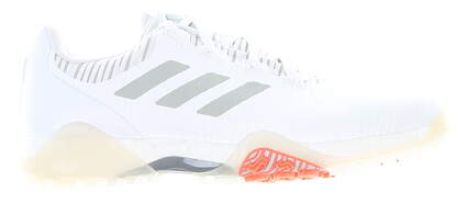 New Mens Golf Shoe Adidas Codechaos Medium 9.5 White/Gray MSRP $150 EE9102