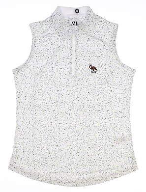 New W/ Logo Womens Footjoy Sleeveless Golf Polo X-Small XS White MSRP $80