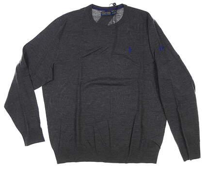 New W/ Logo Mens Ralph Lauren Sweater X-Large XL Gray MSRP $175
