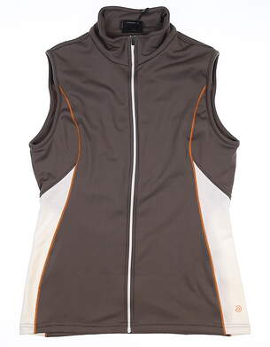 New Womens Galvin Green Vest Medium M Tan MSRP $95