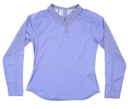 New Womens Puma Long Sleeve Golf Polo Small S Dazzling Blue MSRP $65 595133 02