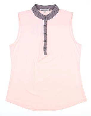 New Womens Fairway & Greene Sleeveless Polo Medium M Pink MSRP $70 J12222