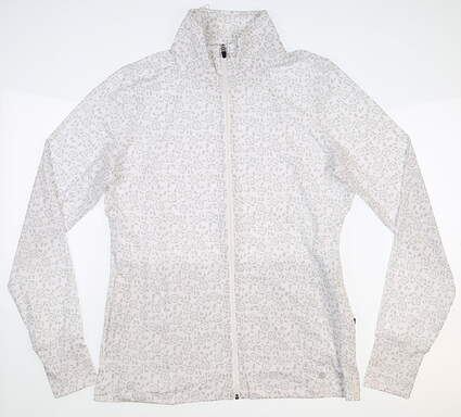 New Womens Straight Bree Golf Jacket Small S White MSRP $96 W60327