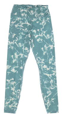 New Womens Puma Print Leggings Small S Spruce MSRP $70 599264 04