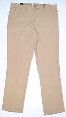 New Mens J. Lindeberg Ellott Reg Fit Micro Stretch Pants 34 x32 Khaki MSRP $135