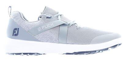 New Mens Golf Shoe Footjoy FJ Flex Medium 9.5 Gray MSRP $90 56106