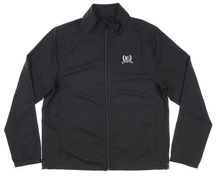 New W/ Logo Mens Greg Norman Golf Jacket Medium M Black MSRP $79