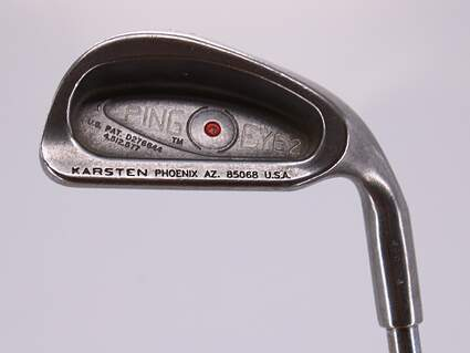 Ping Eye 2 Single Iron 6 Iron Stock Steel Shaft Steel Stiff Right Handed Red dot 37.25in