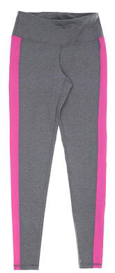 New Womens Footjoy Ankle Leggings X-Small XS Heather Charcoal/Rose MSRP $85 23909