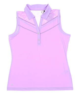 New Womens EP NY Sleeveless Golf Polo Medium M Lilac Mist MSRP $75
