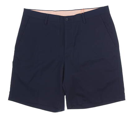 New Mens Fennec Tech Flat Front Golf Shorts 36 Navy Blue MSRP $85 000F600