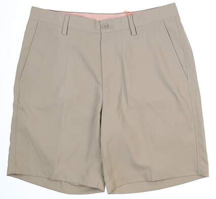 New Mens Fennec Tech Flat Front Golf Shorts 33 Khaki MSRP $85 000F600