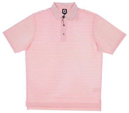 New Mens Footjoy Golf Polo X-Large XL Coral/Multi MSRP $80 26224