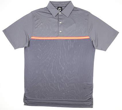 New Mens Footjoy Golf Polo Medium M Slate MSRP $80 26197