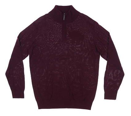 New Mens Mizuno 1/4 Zip Sweater Medium M Purple MSRP $89