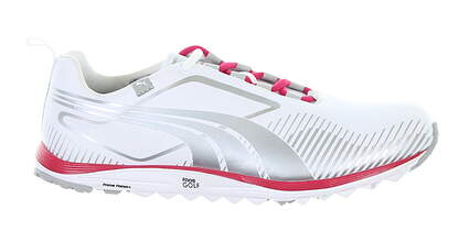 New Womens Golf Shoe Puma Faas Lite 8.5 White/Grey/Pink MSRP $160 186743 04