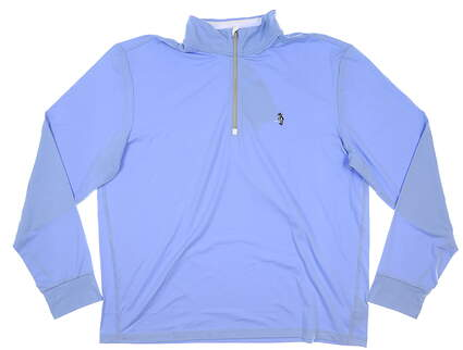 New W/ Logo Mens Ralph Lauren 1/4 Zip Golf Pullover X-Large XL Blue MSRP $110